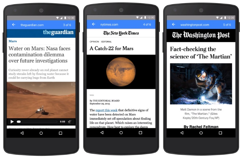 accelerated mobile pages on bing