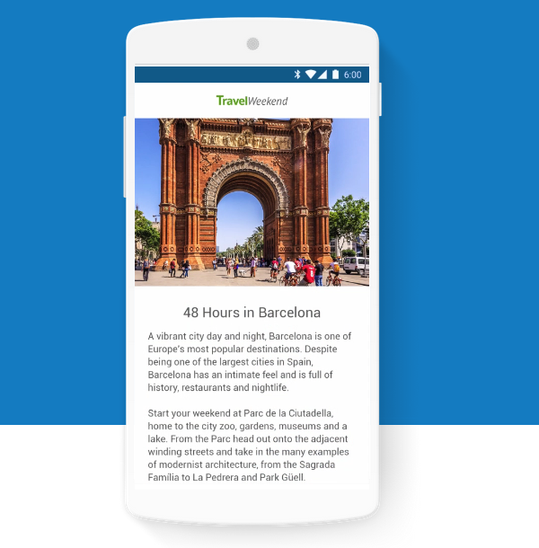 New Accelerated Mobile Pages (AMP) are now added in our new