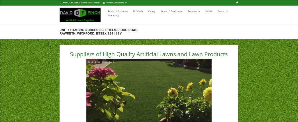 David finch artificial lawns website