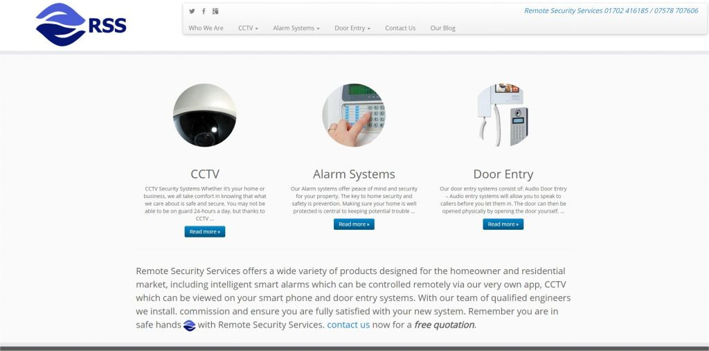 remote security services website