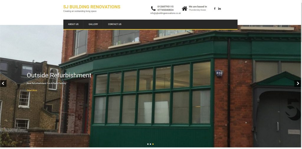 SJ BUILDING RENOVATIONS website